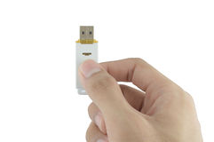 Flash drive. Adapter background drive data Royalty Free Stock Photos