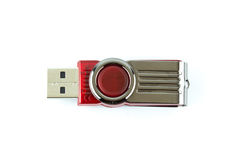 Flash drive. Background  color electronics Stock Photos