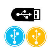 Flash Drive Colorful Icon Set Royalty Free Stock Photos