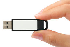Flash drive in hand Royalty Free Stock Photo