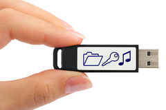 Flash Drive In Hand Stock Photography