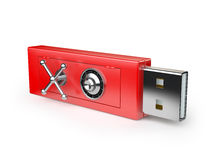Flash drive with a lock Stock Photos