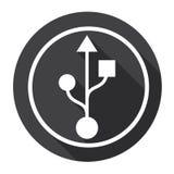 Flash Drive Sign Web Icon Stock Photo
