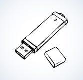 Flash drive. Vector drawing Stock Photos