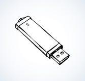 Flash drive. Vector drawing Royalty Free Stock Photos