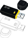Flash drives Royalty Free Stock Photos