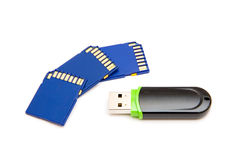 Flash drives Royalty Free Stock Photo
