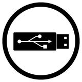 Flash drives icon black white Royalty Free Stock Image
