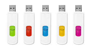 Flash drives set. Royalty Free Stock Image