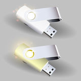 Flash drives. Vector illustration. Royalty Free Stock Images