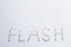 Flash escrito por los Memory Stick Imágenes de archivo libres de regalías