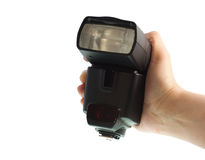 Flash externo para la cámara Imagen de archivo libre de regalías