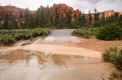 Flash Flood At Red Canyon Utah Stock Images