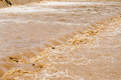 Flash flood background in the rainy season after storm out Royalty Free Stock Photos