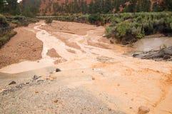 Flash Flood in desert Royalty Free Stock Image
