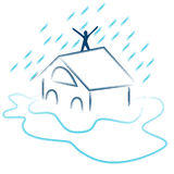 Flash Flood Emergency royalty free illustration