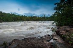 Flash flood-Flash flood in Thailand. Stock Photo