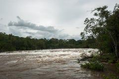 Flash flood-Flash flood in Thailand. Royalty Free Stock Photos