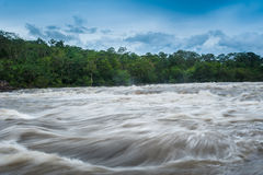 Flash flood-Flash flood in Thailand. Royalty Free Stock Images