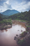 Flash flood in forest park ,north thailand Royalty Free Stock Images