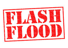 FLASH FLOOD. Red Rubber Stamp over a white background Royalty Free Stock Photography