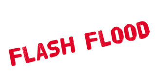 Flash Flood rubber stamp Stock Photography