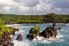 Flash flood at the Seven Sacred Pools. Maui, Hawaii royalty free stock images
