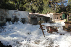 Flash Flood at Universal Studios Hollywood Stock Image