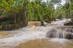 Flash flood in Waterfall at Tat Kuang Si Luang prabang, Laos Stock Photos