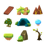 Flash Game Level Design Collection Of Elements Stock Photography