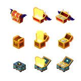 Flash Game Trasure Chest Collection Stock Image