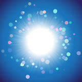 Flash of light, a science experiment Stock Photo