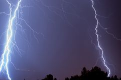 Flash of lightning Royalty Free Stock Photo