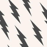 Flash, lightning bolt seamless pattern Stock Images