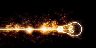 Flash of lightning Stock Image