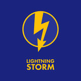 Flash Lightning Storm Royalty Free Stock Photography