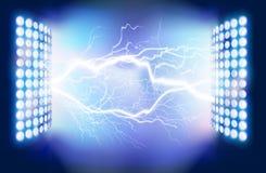 Flash of lightning. Vector illustration. Royalty Free Stock Images