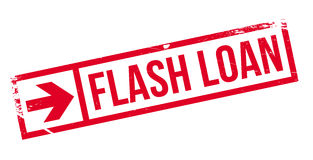 Flash Loan rubber stamp Royalty Free Stock Photography