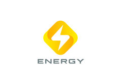 Flash Logo design Thunderbolt symbol Energy Power Stock Photos