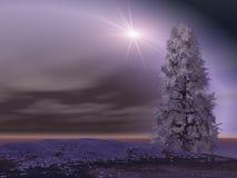 Flash luminoso sopra il paesaggio Immagine Stock
