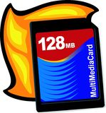 Flash memory card Stock Images