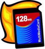 Flash memory card. Illustration Stock Images