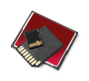 Flash Memory Cards Royalty Free Stock Image