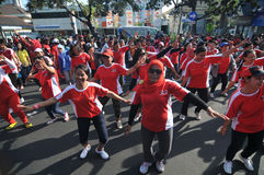 Flash Mob during Car Free Day Stock Image