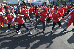 Flash Mob during Car Free Day Royalty Free Stock Photo