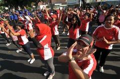Flash Mob during Car Free Day Royalty Free Stock Image