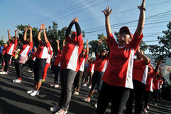 Flash Mob during Car Free Day Royalty Free Stock Images