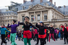 Flash mob dance in Paris Stock Photography