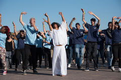 Flash-mob dance protest Stock Image