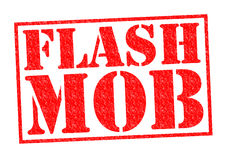 FLASH MOB. Red Rubber Stamp over a white background Royalty Free Stock Images